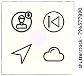 web interface line icons set... | Shutterstock .eps vector #796577890
