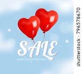 valentine s promotion sale... | Shutterstock .eps vector #796578670