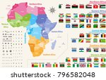 vector map of africa continent... | Shutterstock .eps vector #796582048