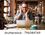 handsome modern young man... | Shutterstock . vector #796584769