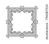 vintage frame or border on... | Shutterstock .eps vector #796587514