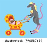 mother a mouse with a cub | Shutterstock .eps vector #796587634