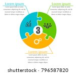 puzzle many piece business... | Shutterstock .eps vector #796587820