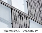 modern building facade with... | Shutterstock . vector #796588219