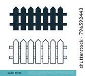 fence icon vector logo template | Shutterstock .eps vector #796592443