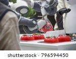 industry 4.0 robot concept .the ... | Shutterstock . vector #796594450