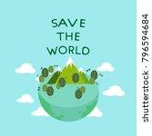 vector of eco friendly world ... | Shutterstock .eps vector #796594684