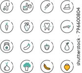 line vector icon set  ... | Shutterstock .eps vector #796600804