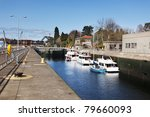 Постер, плакат: Boats in Ballard Locks