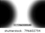 black and white halftone... | Shutterstock .eps vector #796602754