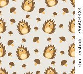 vector seamless pattern on the... | Shutterstock .eps vector #796604434