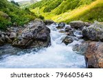 the mountain river. a fast...   Shutterstock . vector #796605643
