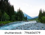 the mountain river. a fast...   Shutterstock . vector #796606579