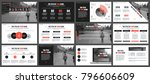 red business presentation... | Shutterstock .eps vector #796606609