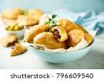 homemade turnovers in latin... | Shutterstock . vector #796609540