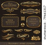 golden decorative vector design ... | Shutterstock .eps vector #79661317