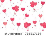 pink dot and shape hearts... | Shutterstock .eps vector #796617199