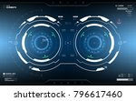 futuristic hud dashboard...