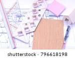 working on process house plan... | Shutterstock . vector #796618198