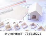 working on process house plan... | Shutterstock . vector #796618228
