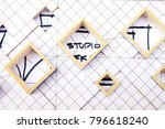 working on process house plan... | Shutterstock . vector #796618240