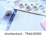 working on process house plan... | Shutterstock . vector #796618300
