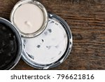 Three Old Paint Can Lids