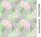 raster seamless floral pattern... | Shutterstock . vector #796622488