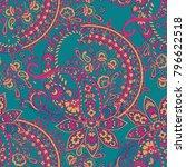 paisley pattern. seamless asian ... | Shutterstock .eps vector #796622518