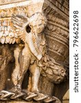 close up of a column capital | Shutterstock . vector #796622698