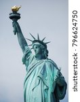 overcast lady liberty | Shutterstock . vector #796624750