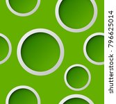 seamless round pattern. circle... | Shutterstock .eps vector #796625014