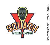 squash logo with text space for ... | Shutterstock .eps vector #796625068