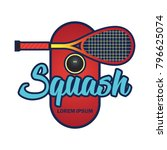 squash logo with text space for ... | Shutterstock .eps vector #796625074