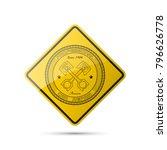 vintage car symbols. car... | Shutterstock .eps vector #796626778