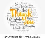 thank you word cloud in... | Shutterstock . vector #796628188