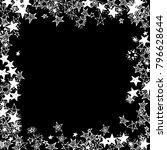frame of stars. black and white ... | Shutterstock .eps vector #796628644