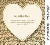 invitation template  background ... | Shutterstock .eps vector #796629004