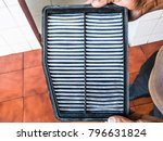 top view of a dusty ac air... | Shutterstock . vector #796631824
