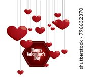 design of valentine day... | Shutterstock .eps vector #796632370