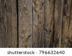 old weathered wood fence wall...   Shutterstock . vector #796632640