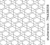 hexagon in pattern  grid ... | Shutterstock .eps vector #796638058