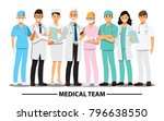 medical team and  staff  vector ... | Shutterstock .eps vector #796638550