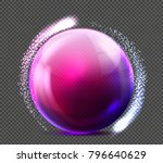 vector realistic glass purple... | Shutterstock .eps vector #796640629
