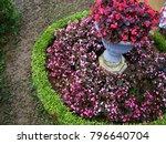 a beautiful landscaped garden... | Shutterstock . vector #796640704