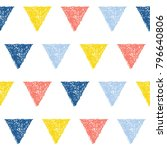 abstract handmade seamless... | Shutterstock .eps vector #796640806