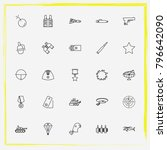 military line icon set military ... | Shutterstock .eps vector #796642090