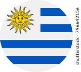 uruguay flag vector round flat...   Shutterstock .eps vector #796642156