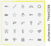 military line icon set target ... | Shutterstock .eps vector #796642288