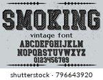 font alphabet script typeface... | Shutterstock .eps vector #796643920